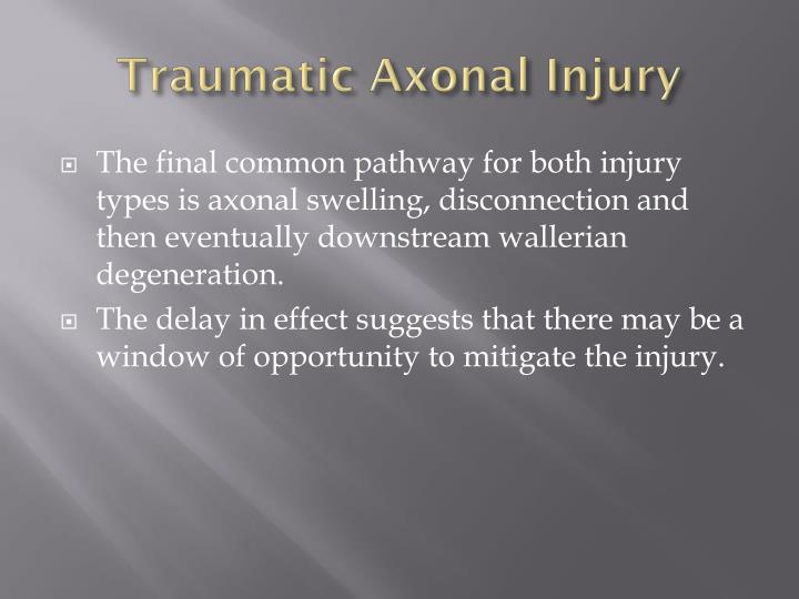 Traumatic Axonal Injury