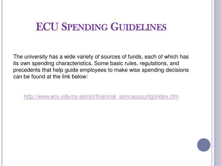 ECU Spending Guidelines