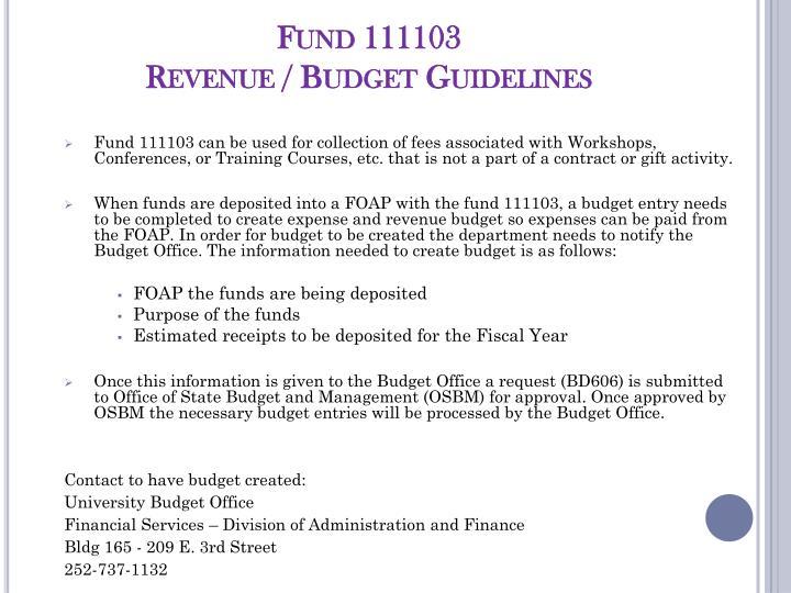 Fund 111103