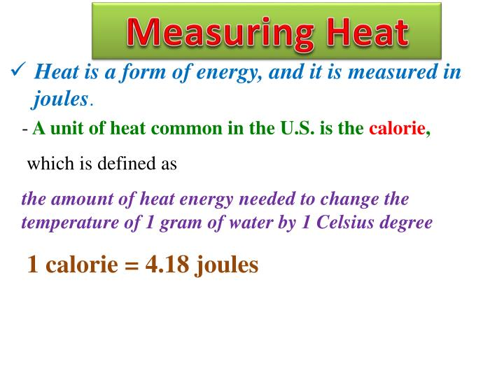 Measuring Heat
