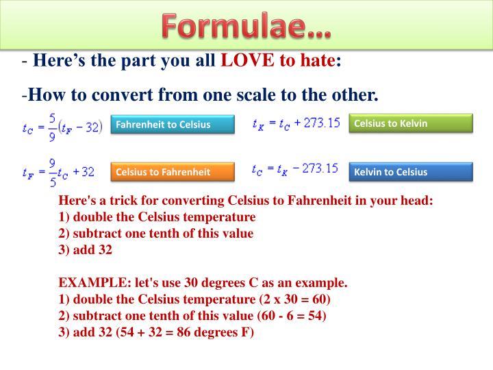 Formulae…