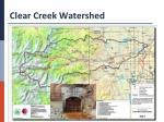 clear creek watershed