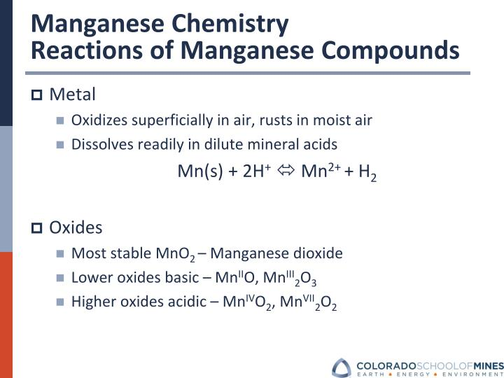 Manganese Chemistry