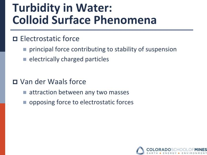 Turbidity in Water: