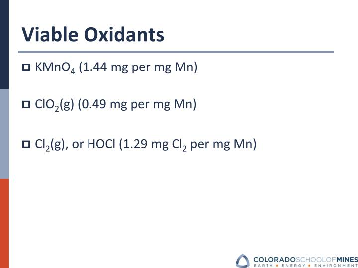 Viable Oxidants