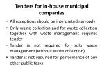 tenders for in house municipal companies2