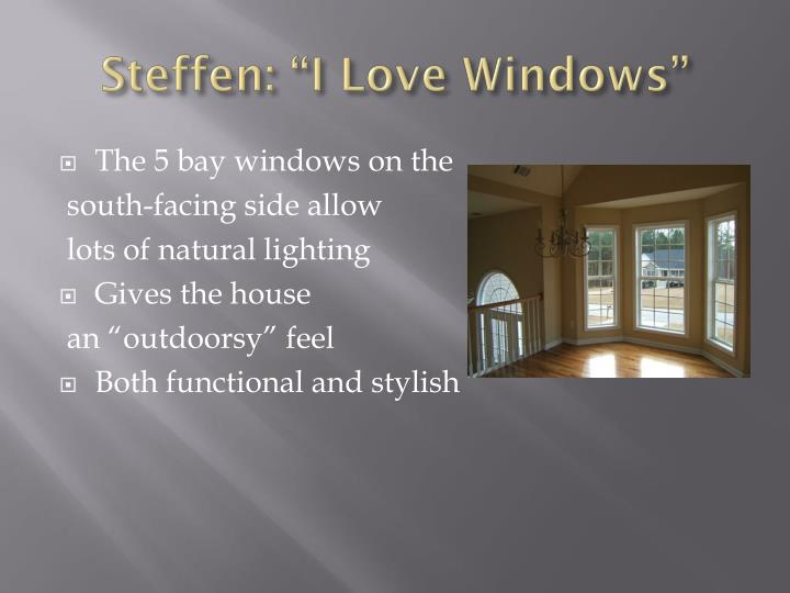 "Steffen: ""I Love Windows"""