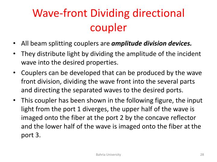 Wave-front Dividing directional coupler