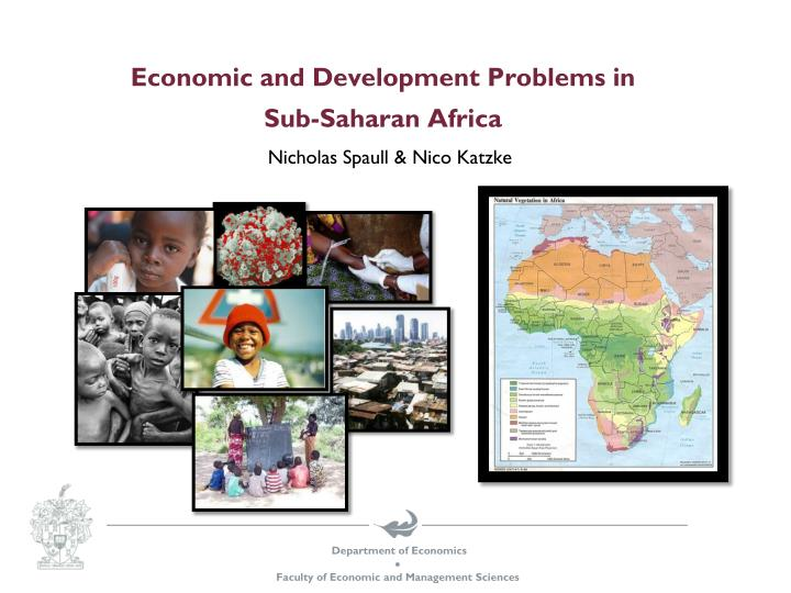 Economic and development problems in sub saharan africa