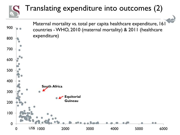 Translating expenditure into outcomes (2)
