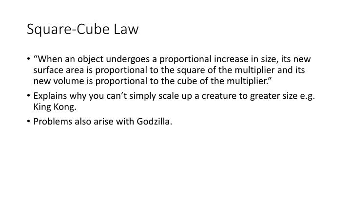 Square-Cube Law