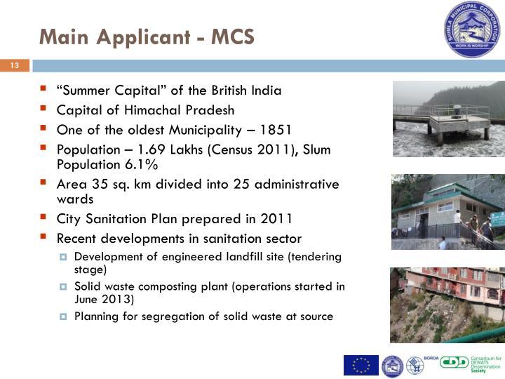 Main Applicant - MCS