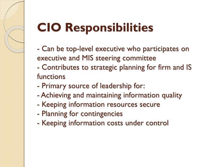 CIO Responsibilities