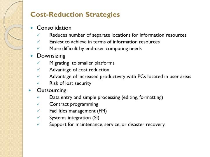 Cost-Reduction Strategies