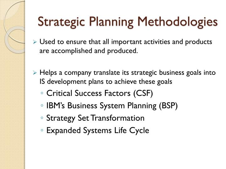 Strategic Planning Methodologies