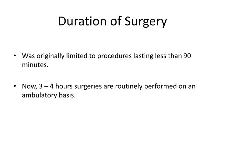 Duration of Surgery