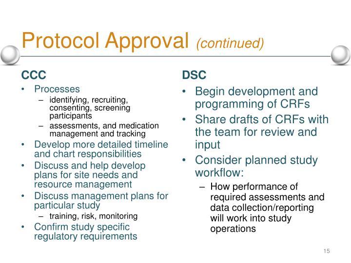 Protocol Approval
