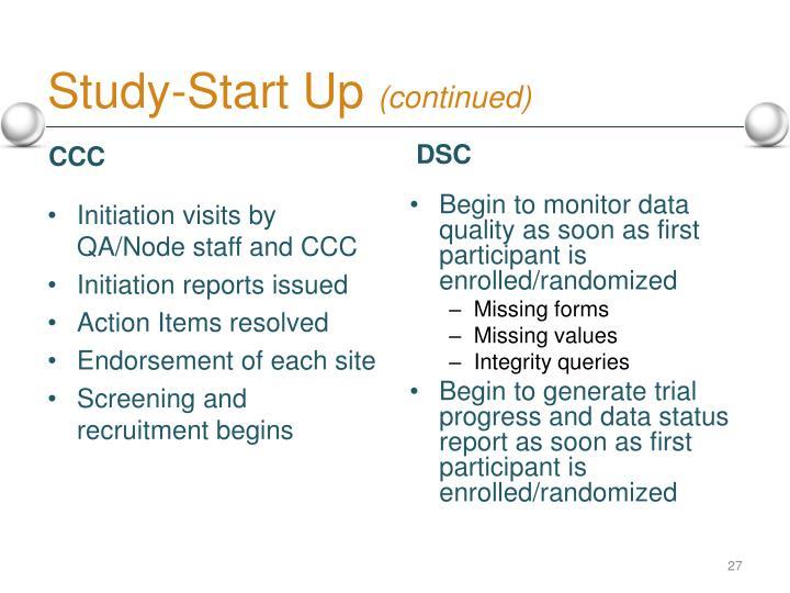 Study-Start Up