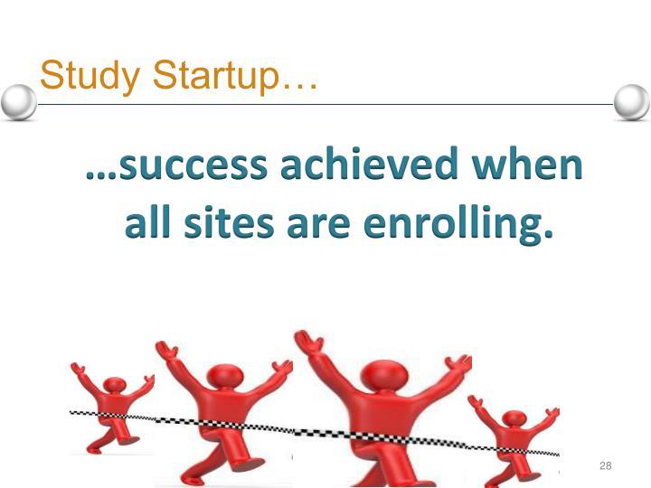 Study Startup…