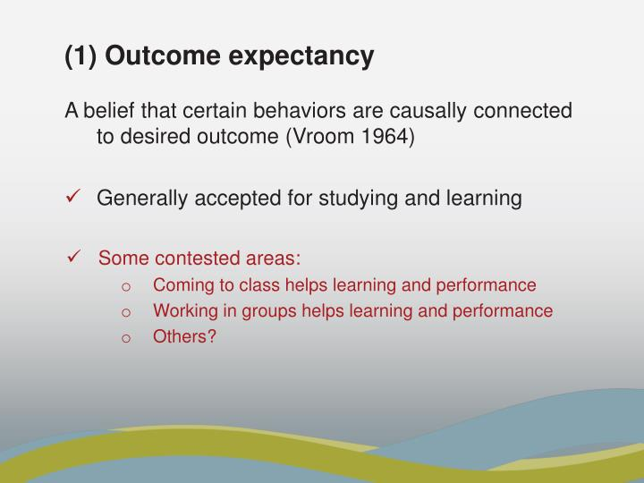 (1) Outcome expectancy