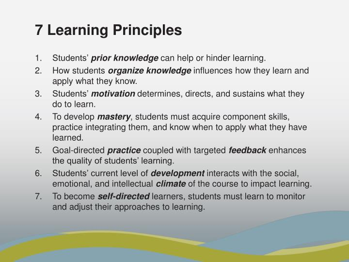 7 Learning Principles