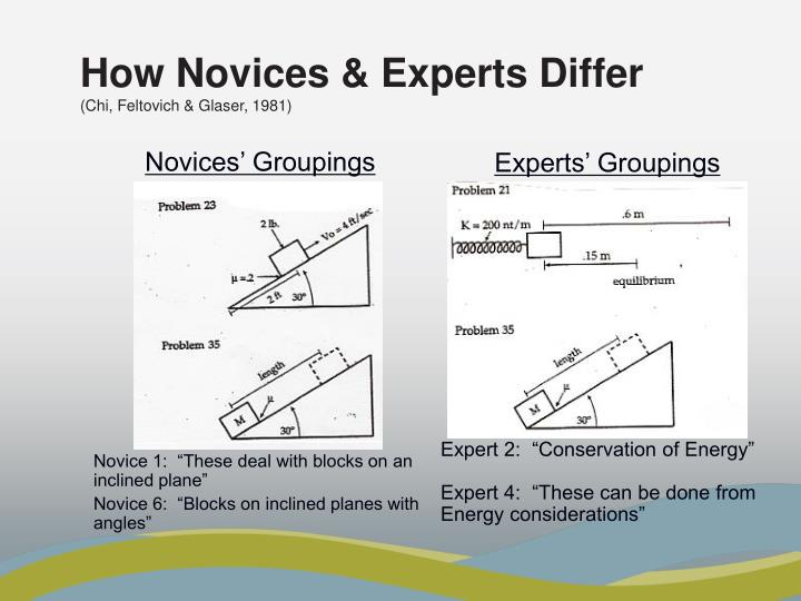 Novices' Groupings