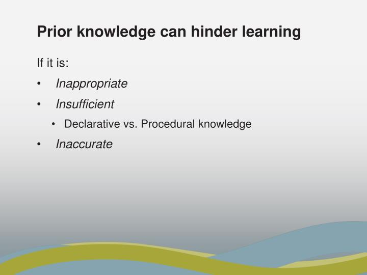 Prior knowledge can hinder learning