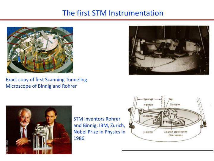 The first STM