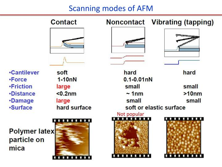 Scanning modes of AFM