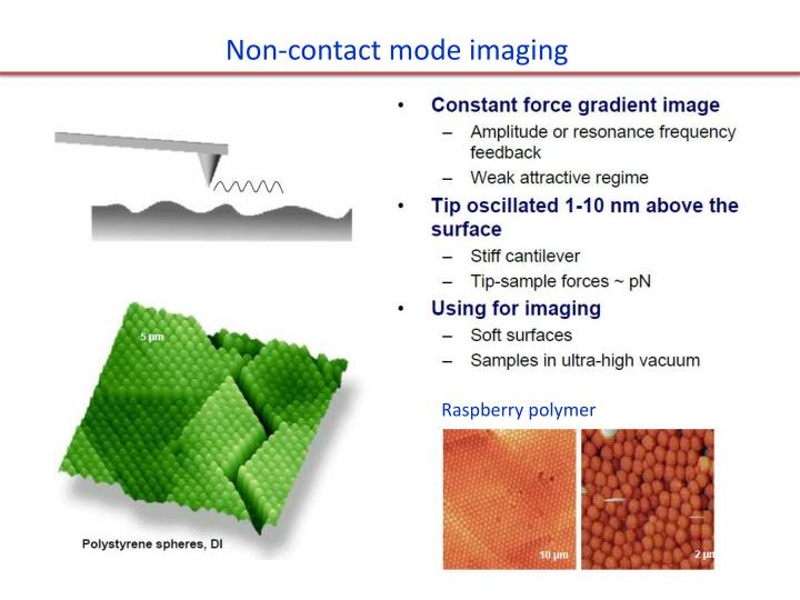 Non-contact mode imaging