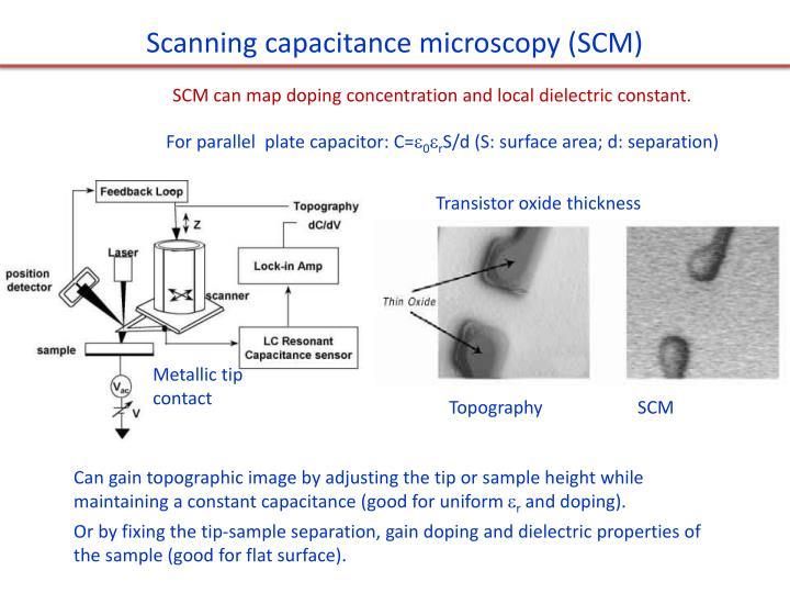 Scanning capacitance microscopy (SCM)