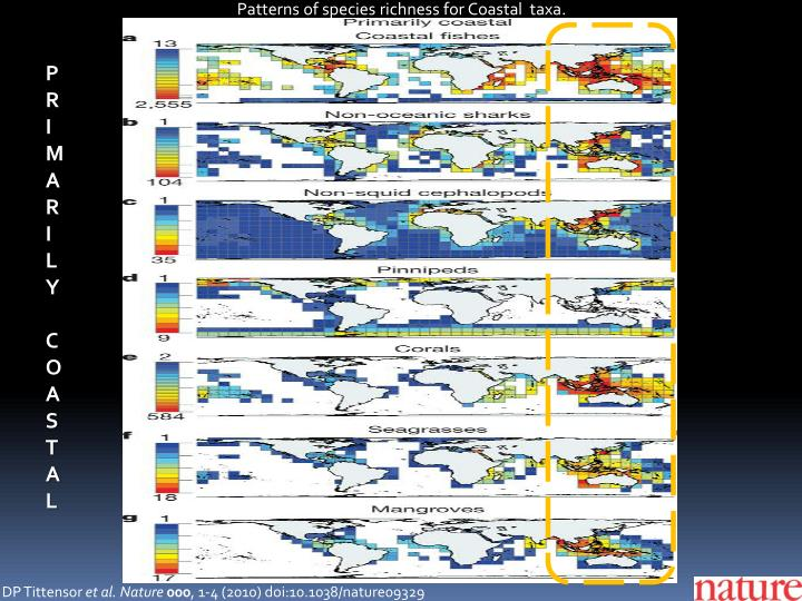 Patterns of species richness for