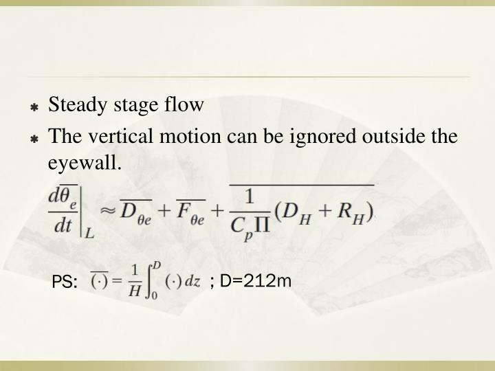 Steady stage flow