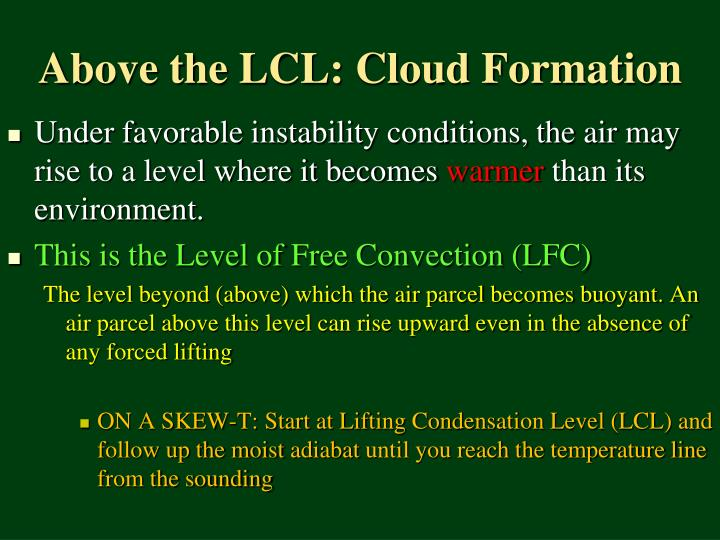 Above the LCL: Cloud Formation