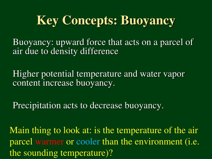 Key Concepts: Buoyancy
