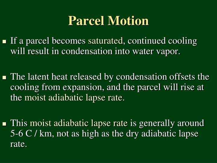 Parcel Motion