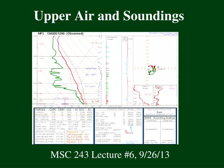 Upper air and soundings
