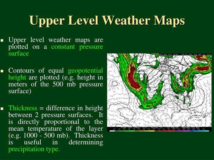 Upper level weather maps