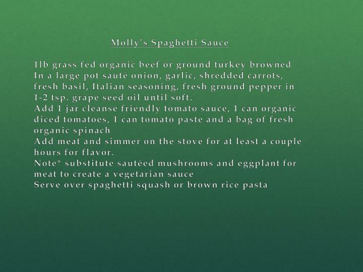 Molly's Spaghetti Sauce