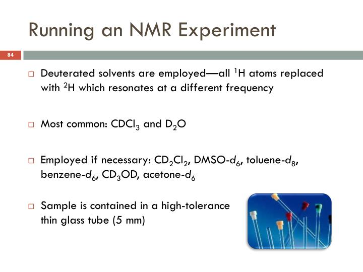 Running an NMR Experiment