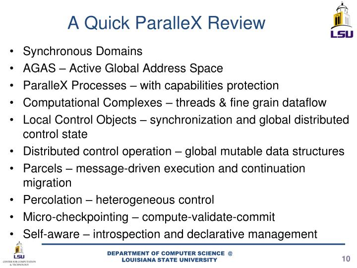 A Quick ParalleX Review