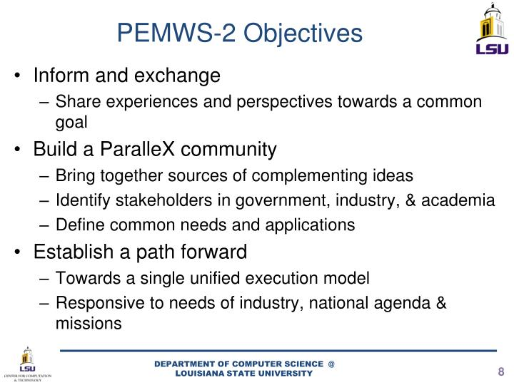PEMWS-2 Objectives
