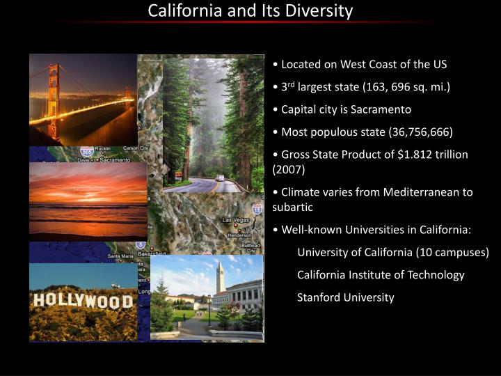 California and Its Diversity