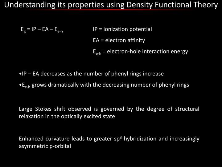 Understanding its properties using Density Functional Theory