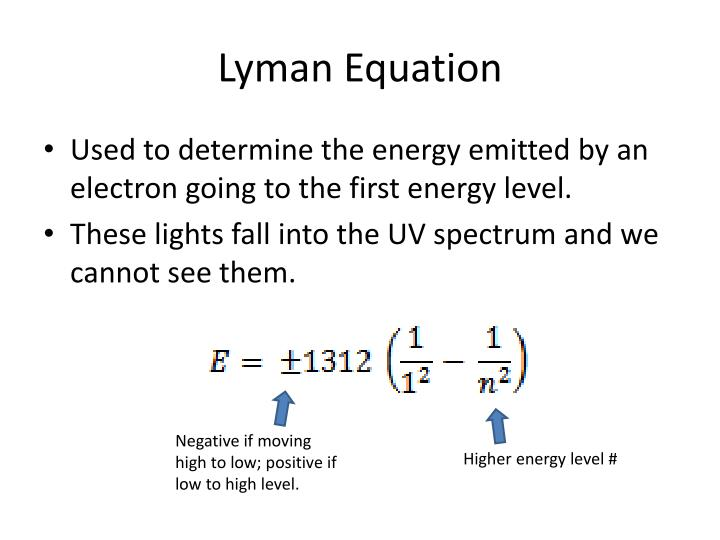 Lyman Equation