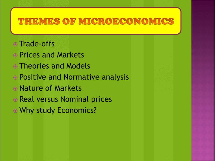 THEMES of microeconomics
