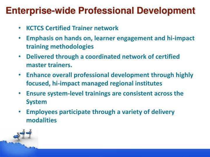 Enterprise-wide Professional Development