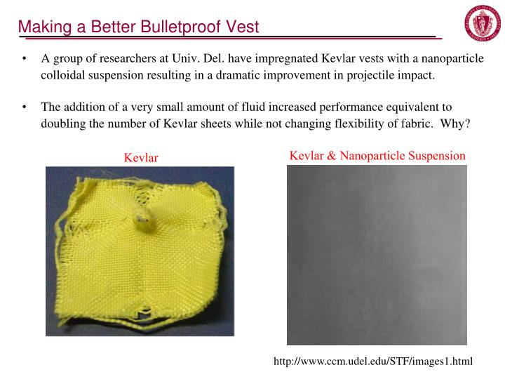 Making a Better Bulletproof Vest