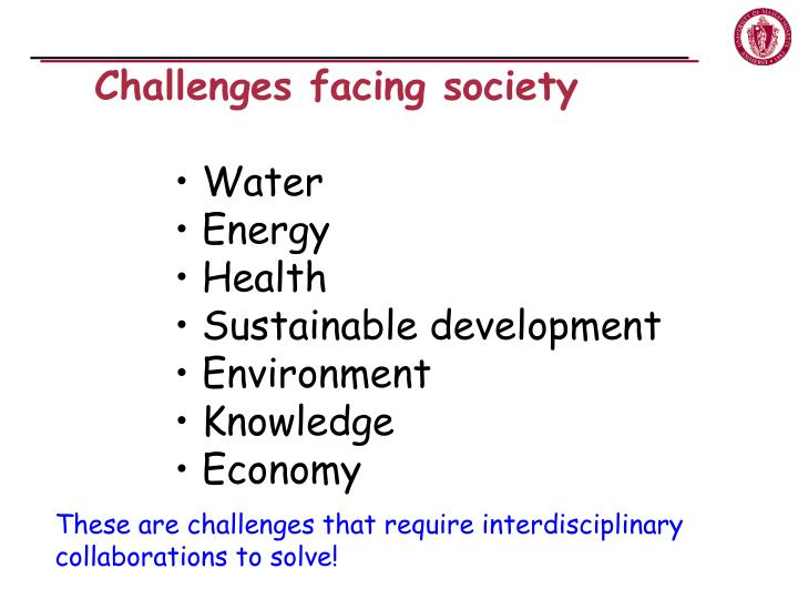 Challenges facing society