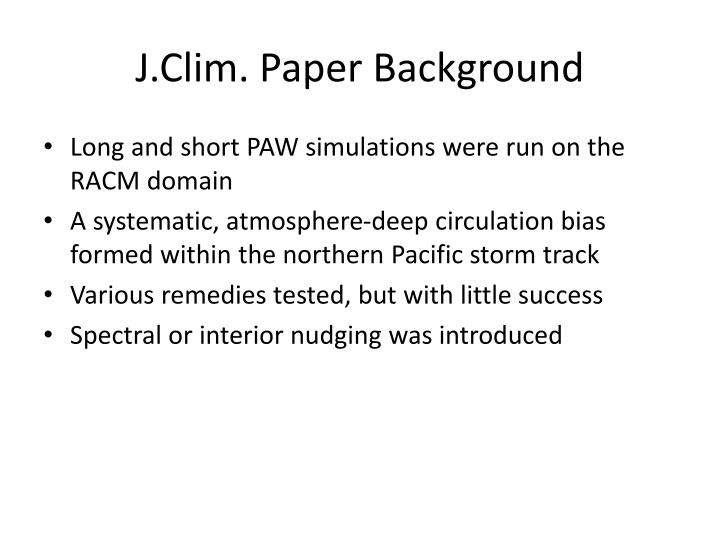 J clim paper background